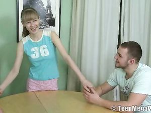 Big Tits Teen Shared By Two Horny Thrusting Guys