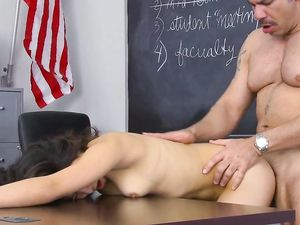 Teacher Gets A Blowjob From A Slut Under His Desk