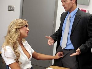 Blonde Teen Beauty And A Teacher Fuck In Class