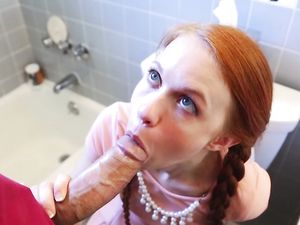 Adorable Redheaded Girl Fucked By His Big Dick