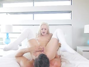Tiny Elsa Jean Sucks Thick Cock Passionately