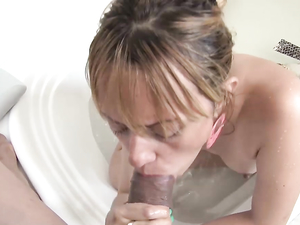 In The Bathtub For A BJ From A Colombian Slut